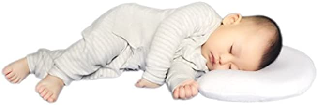 Flat Head Pillow - Head Shaping Memory Foam & 2 Extra Cool-max White Pillowcases. Protect Babies' Head Round of Plagiocephaly or Flathead Syndrome. Amazing Shower Gifts for Infants and Newborn