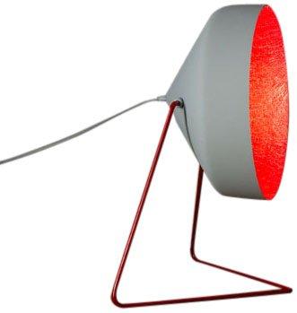 In-es.artdesign IN-ES070016G-R Cyrcus F Cemento Lampadaire Gris/Rouge