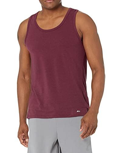 Amazon Essentials Performance Cotton Tank Undershirts, Port, US (EU XS)