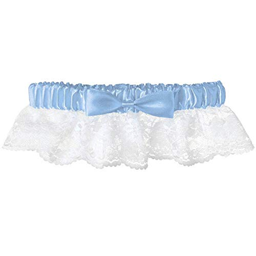 one Size 1ct Garter-Lace with Ribbon /& Gem Blue Party Supplies Amscan Gift