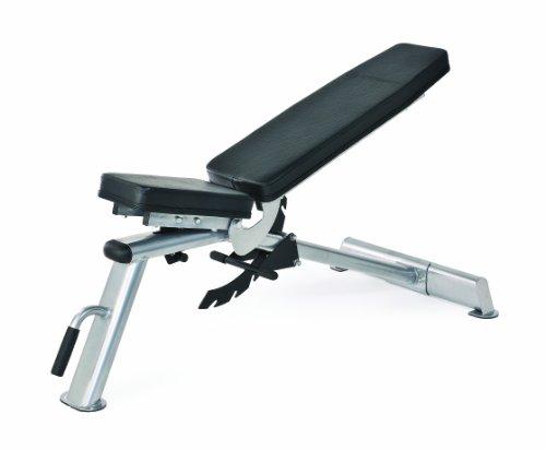Horizon Fitness 100693 Adonis - Banco de Entrenamiento, Color Negro y Plateado ✅