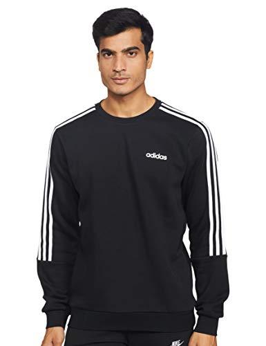 Adidas Men's M Crew 3S Long Sleeve Regular Fit, Black, Small
