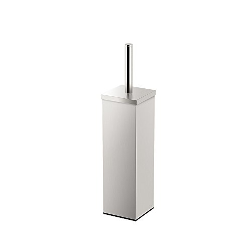 Gatco 1489 Elegant Square Toilet Brush Holder, Satin Nickel