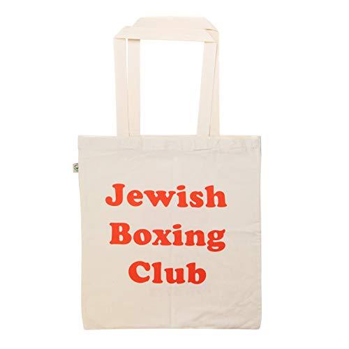 KraftworkN7 Jüdische Box-Club-Einkaufstasche, Natur/Rot, Einheitsgröße