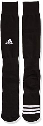 adidas Unisex Rivalry Field OTC Socks (2-Pair), Black/ White, Small