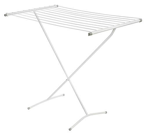 DanDiBo Wäscheständer Badewanne Standtrockner Weiß 93874 Faltbar Schmal Metall ohne Flügel ohne Rollen Platzsparend Zusammenklappbar
