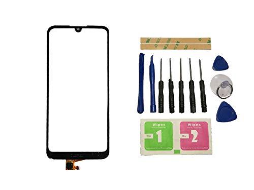 Flugel fur Huawei Y6 2019 MRD LX1F MRD LX1 MRD LX3 Y6 Prime 2019 Y6 Pro 2019 MRD LX2 Touchscreen Display Digitizer Glas Schwarz Bildschirm Frontglas Ohne LCD Ersatzteile Werkzeuge Kleber