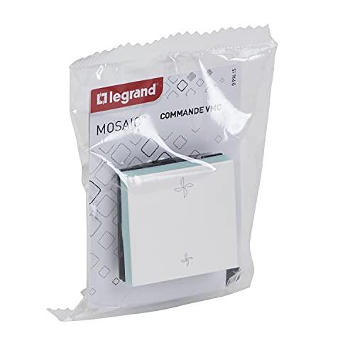Interruptor para Control de ventilación mecánico, Control (VMC) – 2 módulos Gama Mosaic – regulador Legrand de 2 velocidades de Ajuste para ventilación Adecuada.
