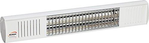BURDA URCAC200V9010, Heizstrahler IP67 2,0 kW weiß low glare