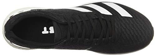 adidas Men's Adizero Boston 8 Running Shoe, Black/White/Grey, 12 M US 13