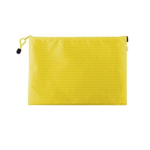 Muka Paquete de 10 soportes de documentos con cremallera, bolsas de archivo, bolsas de malla con cremallera, organizador de documentos, Amarillo (Amarillo) - 6DKC-JR0005_YELLOW-A6