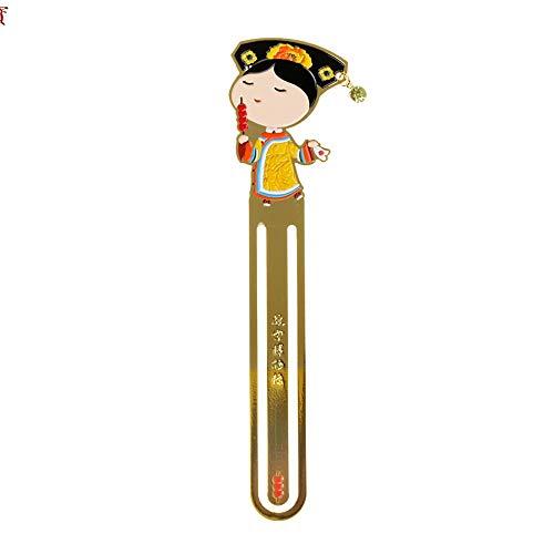 Segnalibro/Segnalibri/ stile cinese Preferiti libro Marks- segnalibro del metallo classico modellazione -Royal carattere del / Buona scelta di Qing e Ming dinastie come un dono ( Color : No. 3 )