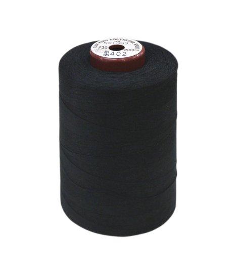 FUJIX キングスパン (ポリエステルミシン糸) 30番/2000m COL.402 黒
