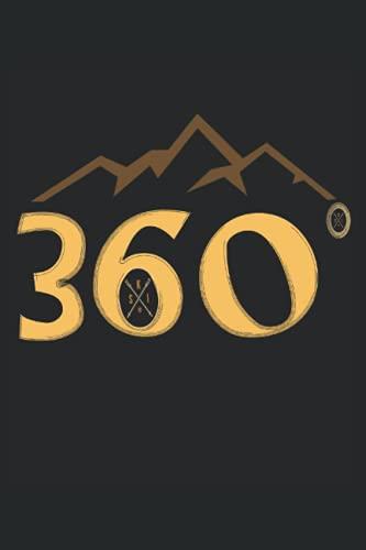 360 Grad Ski fahren und Freestyle Natur Pur Berge: Notizbuch Liniertes Papier mit 120 Seiten im Format 15 x 22, 86 cm