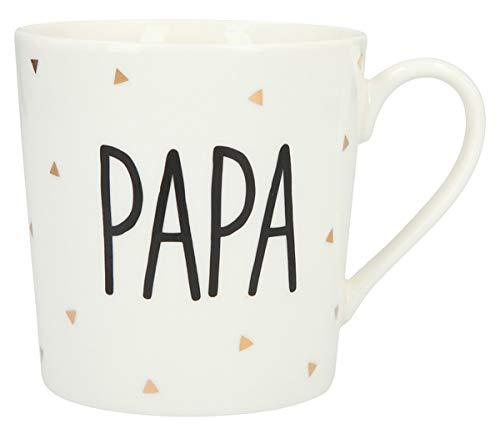 Depesche 5909.002 Tasse mit Henkel, aus Porzellan, 300 ml, mit Aufschrift, Papa, Mehrfarbig