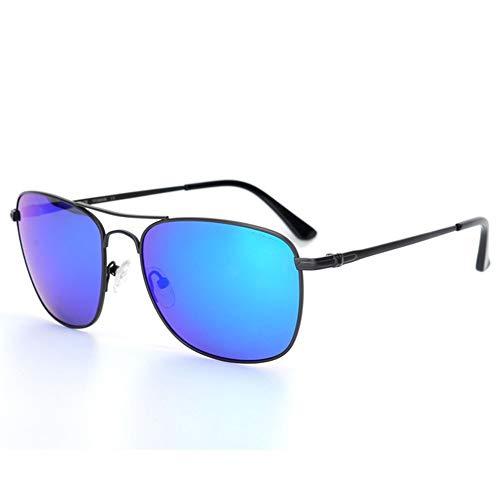 SWNN Sunglasses Gafas De Sol Azul Verde Gris UV400 for Hombre Gafas De Conducción Cómodas De Titanio (Color : Blue)