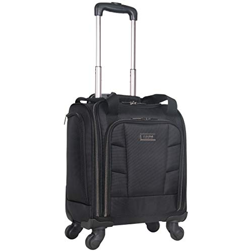Kenneth Cole Reaction 18' Lightweight Multi-Pocket Anti-Theft RFID 14.1' Laptop & Tablet Underseater Carry-On With USB Charging Port, Black, One Size