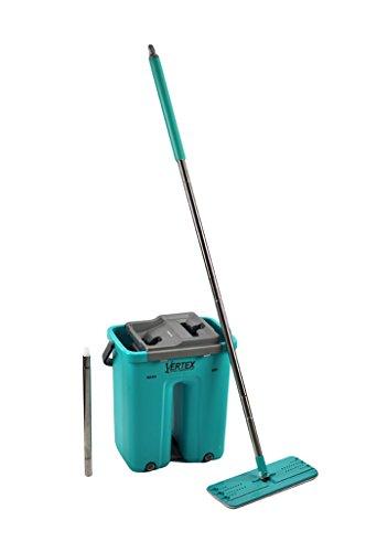 Vertex Self Clean Squeeze Dry Flat Mop, Caribbean Blue