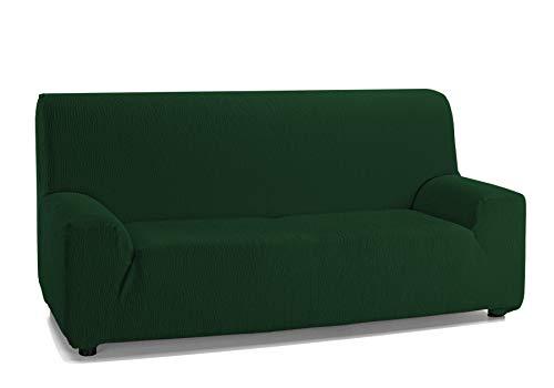 Martina Home Emilia, Funda Elástica para Sofá de 3 Plazas, Verde Botella, de 180 a 240 cm de ancho