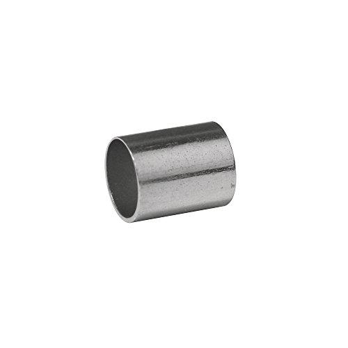 RAYHER–2159321–Tappi finali per cinghie in cuoio, diametro interno 3mm, Confezione da 4pezzi, Platino