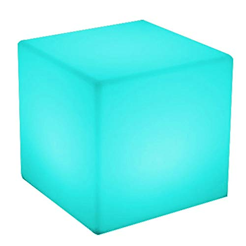 CUBE LED Muebles luminosos al aire libre Inicio/Bar/Bar/Fiesta Lámpara decorativa Fiesta al aire libre Creativo Taburete Colorido Control remoto IP65 Impermeable Resplandor Recargable