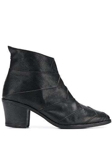 Milu Stiefel mit dickem Absatz aus schwarzem Kalbsleder von Fiorentini + Baker, Schwarz - Schwarz  - Größe: 36/36.5 EU