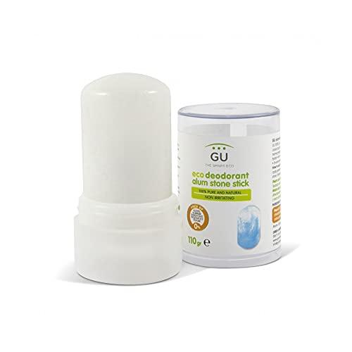 Desodorante de Piedra de Alumbre 100% 110 gr- Desodorante natural - Sin Parabenos, Alcohol o Conservantes - Elimina Bacterias sin Cerrar los Poros - Cosmética natural - GU Planet
