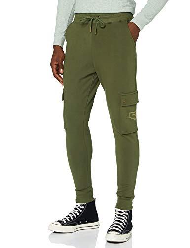 Gianni Kavanagh Army Green Core Cargo Joggers Chándal, Verde Militar, L para Hombre