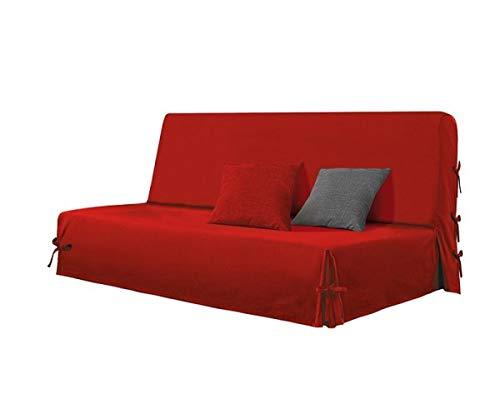Alpes Blanc - Copridivano clic clac Stella, 100% cotone, colore: Rosso