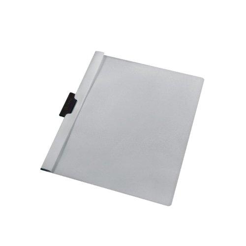 Herlitz 10915395 - Funda plástica con solapa transparente capacidad para 30 hojas de PVC color gris (Pack de 5)