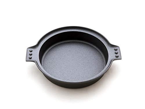 Oigen Sukiyaki Gusseisen-Pfanne Induktion Rund Ø 24 cm. Eisen-Pfanne Induktions-Herd, Ceran, Gas, Backofen, BBQ, Grill