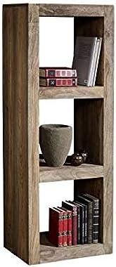 G Fine Furniture Wooden Bookshelf Furniture for Living Room | Open Bookcases Shelves | 3 Shelf Storage | Sheesham Wood, Green