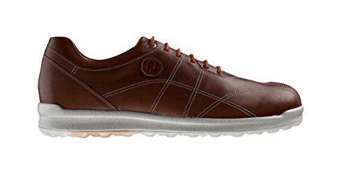 Crampons Footjoy Versaluxe-Scarpe da Golf da Uomo, Colore: Caramello, Taglia: 47