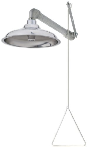 Read About Haws 8133H Horizontal Overhead Drench Shower with Axion MSR Stainless Steel Showerhead