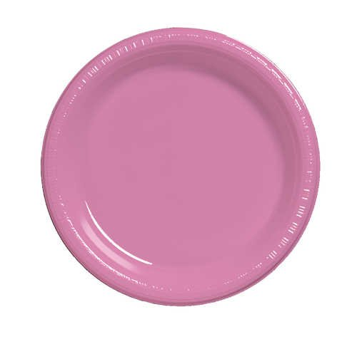 Check Out This Creative Converting 28304221 Candy Pink Dinner Plate, Plastic Solid (12pks Case)