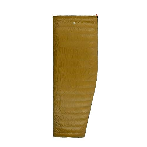 ZHENXIN Sac de Couchage extérieur 400g White Goose Down Envelope 3 Season Down Allongé Adulte Nylon Spring Outdoor Camping Sleeping Bag Golden Color