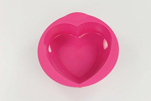 TUPPERWARE Moule à cake forme de coeur rose