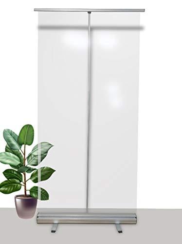 Mampara protectora portátil oficinas y trabajo - Protector móvil 200cm x 100cm - Mampara plegable con funda portátil para transportar