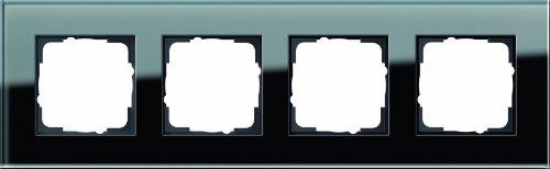 Preisvergleich Produktbild Gira 021405 Abdeckrahmen 4-Fach Esprit Glas,  schwarz