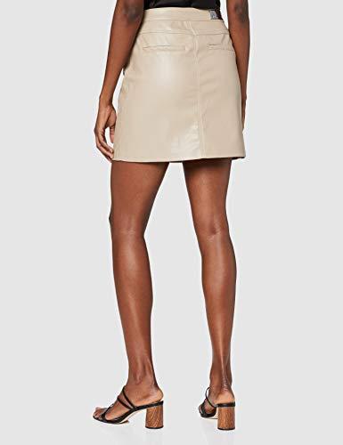 Only ONLHEIDI Faux Leather Skirt OTW Falda, Gris, XS para Mujer