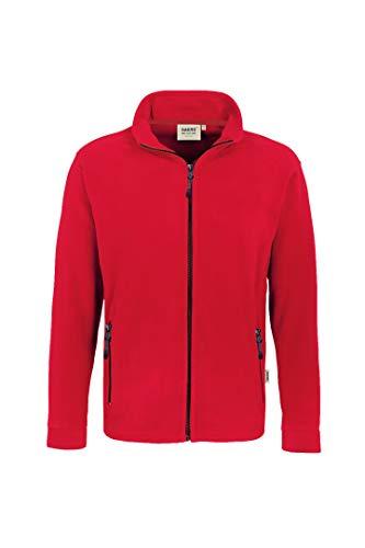 """HAKRO Fleece-Jacke """"Langley"""" - 852 - rot - Größe: 5XL"""
