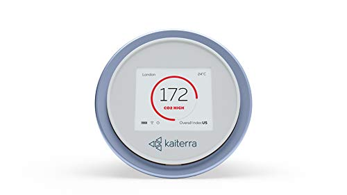 Kaiterra Laser Egg+ CO2: Indoor Air Quality Monitor (Tracks PM2.5, Fine Dust, Carbon Dioxide (CO2), Temperature, and Humidity)