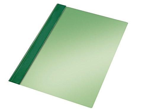 Esselte Carpeta dossier fastener, Plástico, A4, Sin tarjetero, Pack de 50, Verde, Modelo 132/1, 13205