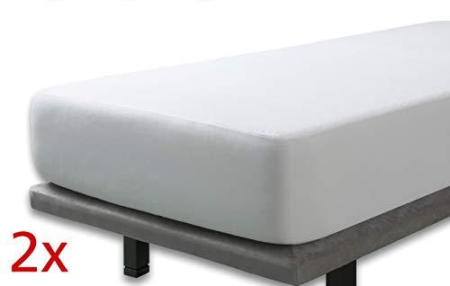 Velfont – 2er Set Wasserdicht Matratzenauflage | Frottee-Matratzenschoner aus Baumwolle – 2X 90x190/200cm – verfügbar in verschiedenen Größen