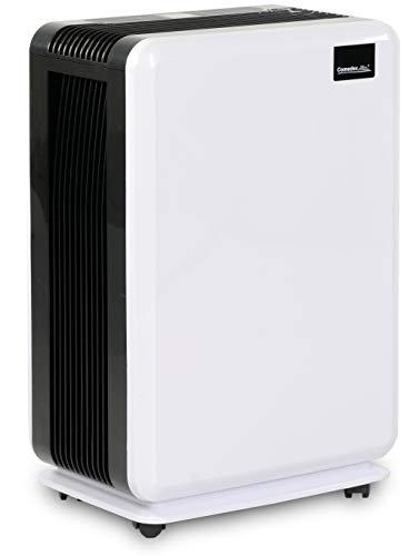 Comedes Demecto 20 – Vielseitiger Luftentfeuchter, bis zu 20 l/Tag, bis zu 80m², für Wohnräume, Bad und Keller, mit Schimmelvermeidungs-Automatik