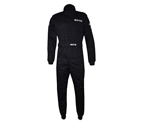 STR Graphite Start Race Suit Single Layer – Sfi 3–2 A/1 avec un certificat – Idéal pour les ovale Racing, noir/gris foncé, EU48