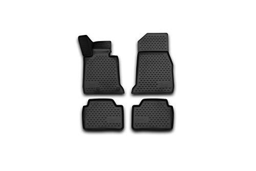 Element EXP.NLC.3D.05.33.210k 3D Passgenaue Premium Antirutsch Gummimatten Fußmatten BMW 1-er f20 2011-2019, Schwarz, Passform
