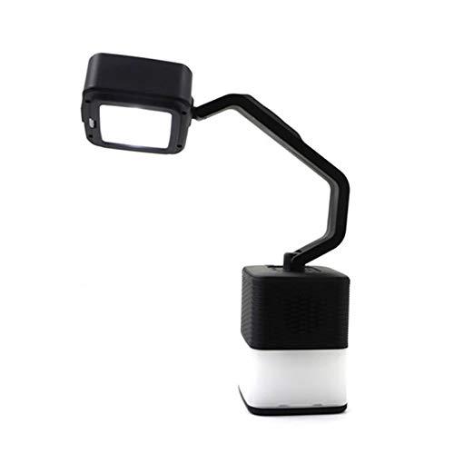 Sangshi Lámpara de exterior, 4 en 1, luz de camping, altavoz Bluetooth para cargar, lámpara de mesa recargable, iluminación exterior