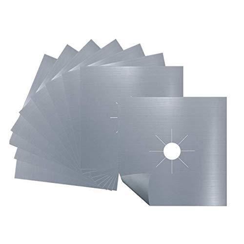 Sucute - Copertura per fornello a gas (10 confezioni), riutilizzabile, protezione per...