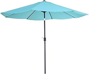 Pure Garden 10ft Aluminum Patio Umbrella with Auto Tilt & Crank